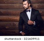 portrait of young beautiful... | Shutterstock . vector #321609911