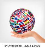 Flags Of The World On A Globe ...