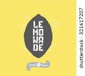 hand drawn black lemon... | Shutterstock .eps vector #321617207