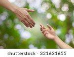 close up hands help pray... | Shutterstock . vector #321631655