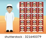 arab teen boy cartoon emotion... | Shutterstock .eps vector #321640379