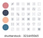 collection of  geometric shapes.... | Shutterstock .eps vector #321645065