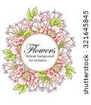 vintage delicate invitation... | Shutterstock .eps vector #321645845
