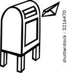 public mail box   Shutterstock .eps vector #3216470