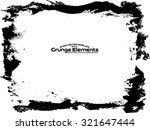 grunge frame   abstract texture.... | Shutterstock .eps vector #321647444
