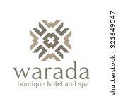 boutique hotel vector logo... | Shutterstock .eps vector #321649547