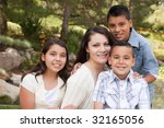 happy hispanic mother and... | Shutterstock . vector #32165056