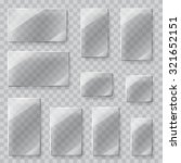 set of transparent glass plates ... | Shutterstock .eps vector #321652151