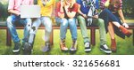 teenagers young team together... | Shutterstock . vector #321656681