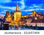 prague  czech republic. charles ... | Shutterstock . vector #321657404