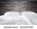close up white bedding sheets... | Shutterstock . vector #321657467