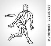sportsman throwing ultimate... | Shutterstock .eps vector #321657899