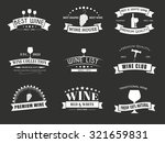 design wine logos  emblems  in... | Shutterstock .eps vector #321659831