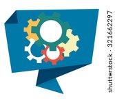 blue gear paper origami speech... | Shutterstock . vector #321662297