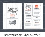 vintage restaurant menu design... | Shutterstock .eps vector #321662924