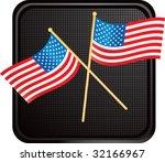 American Flags On Black Web...