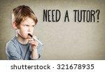 portrait of boy with pen  need... | Shutterstock . vector #321678935