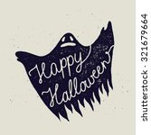 happy halloween ghost sign.... | Shutterstock .eps vector #321679664