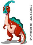 red parasaurolophus  standing... | Shutterstock .eps vector #321682517