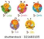 set of bees  vector | Shutterstock .eps vector #321683105