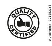 the certified quality and... | Shutterstock .eps vector #321683165