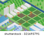 agriculture with iot internet... | Shutterstock .eps vector #321693791