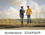 friends chatting | Shutterstock . vector #321695639