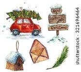 Watercolor Vintage Merry...