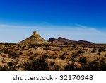 image of a desert with shrubs ... | Shutterstock . vector #32170348