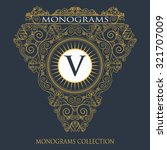 vintage vector monogram.... | Shutterstock .eps vector #321707009