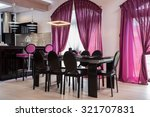 modern space for eating in the... | Shutterstock . vector #321707831