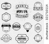 dance festival salsa badges... | Shutterstock .eps vector #321710114