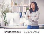 confident female entrepreneur...   Shutterstock . vector #321712919