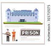 prison jail penitentiary... | Shutterstock .eps vector #321715271