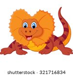 illustration of red lizard | Shutterstock .eps vector #321716834