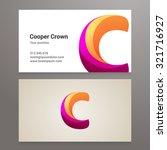 modern letter c twisted... | Shutterstock .eps vector #321716927