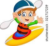 illustration of boy maneuvering ... | Shutterstock . vector #321717239