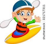 illustration of boy maneuvering ... | Shutterstock .eps vector #321717311