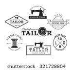 set of vintage tailor labels ... | Shutterstock .eps vector #321728804