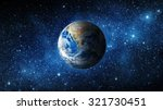 earth and galaxy. elements of... | Shutterstock . vector #321730451
