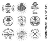 gentleman barber shop set of... | Shutterstock .eps vector #321734534