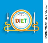 concept for dieting  planned... | Shutterstock .eps vector #321739667