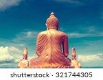 asian trip. buddha statue and... | Shutterstock . vector #321744305