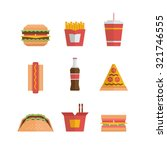 fast food icon   hamburger ... | Shutterstock .eps vector #321746555