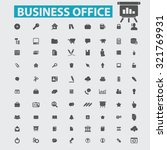 business office icons | Shutterstock .eps vector #321769931