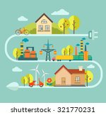 flat vector concept and... | Shutterstock .eps vector #321770231