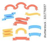 vector set of ribbons. modern... | Shutterstock .eps vector #321770357
