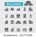 buildings  houses icons | Shutterstock .eps vector #321771335
