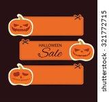 halloween sale offer design... | Shutterstock .eps vector #321772715