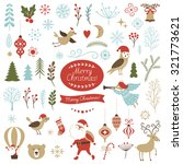 big set of christmas graphic... | Shutterstock .eps vector #321773621